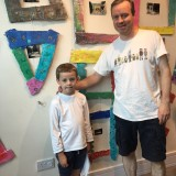 IACCAF18 Art Camp 1 frame it father son